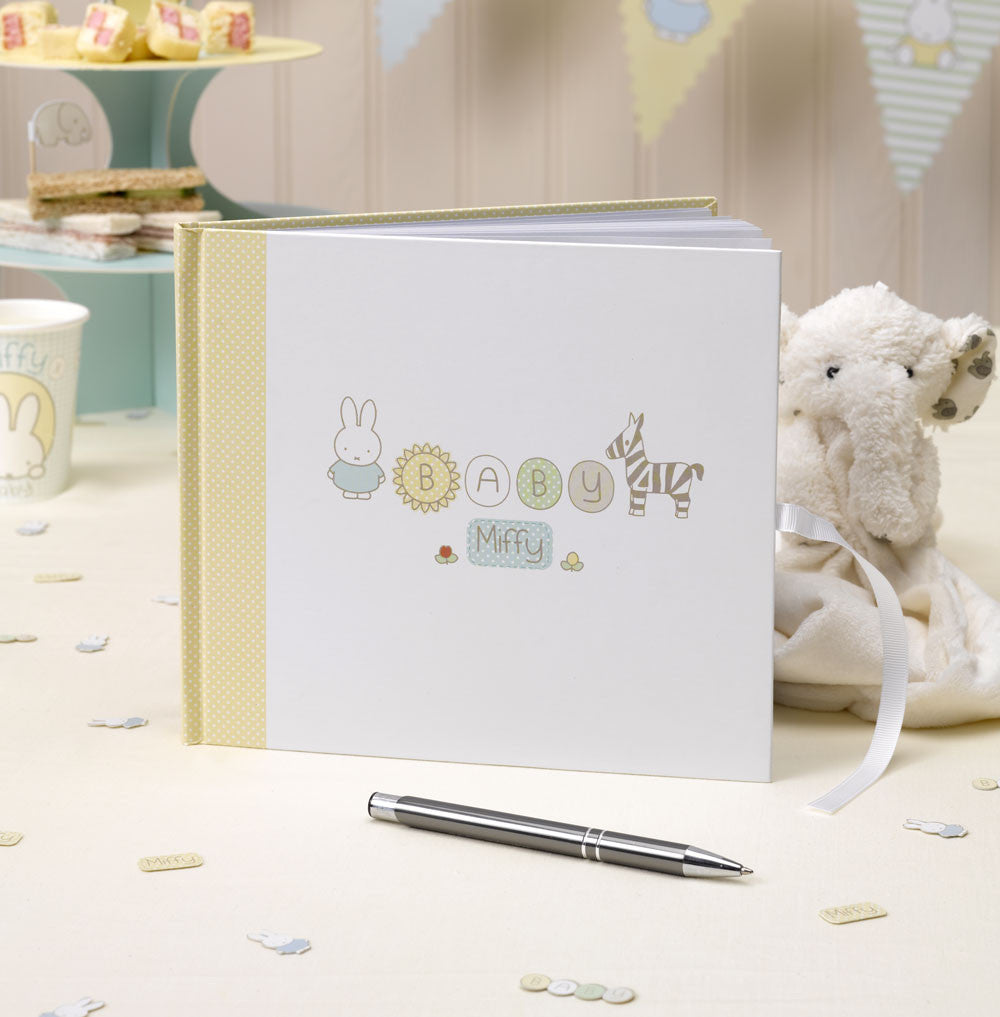 Baby Miffy Guest Book,[product type] - Baby Showers and More