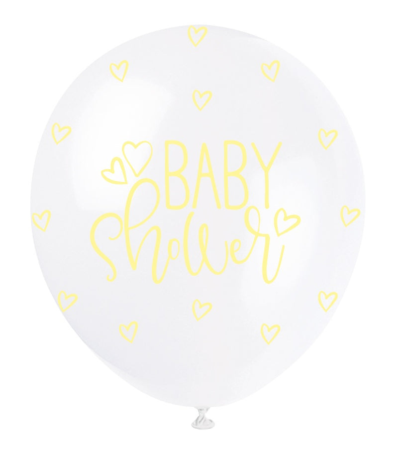 Baby Shower Pastel Hearts Balloons - Uk Baby Shower Co ltd