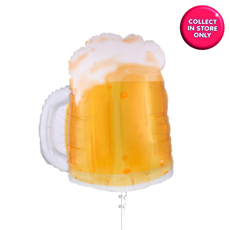 See-Thru Beer Mug Glass Balloon INFLATED
