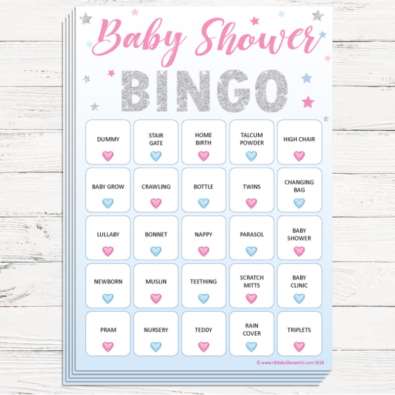 Baby Bingo Game - Stars - Uk Baby Shower Co ltd