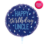 Happy Birthday Uncle Balloons - Helium Inflated