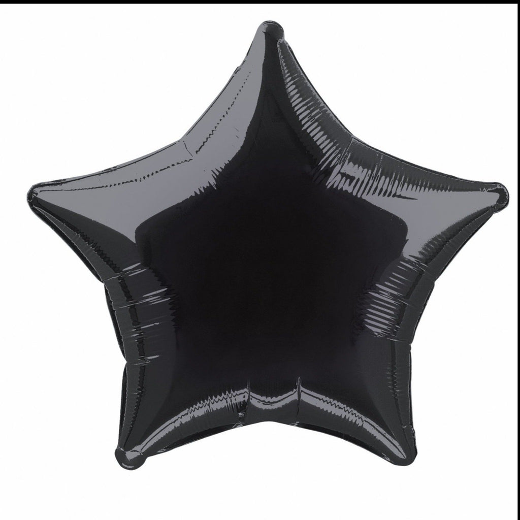Black Star Foil Balloon INFLATED