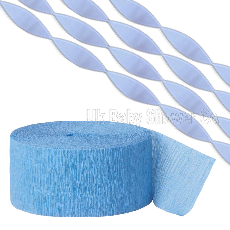 Blue Crepe Streamer,[product type] - Baby Showers and More