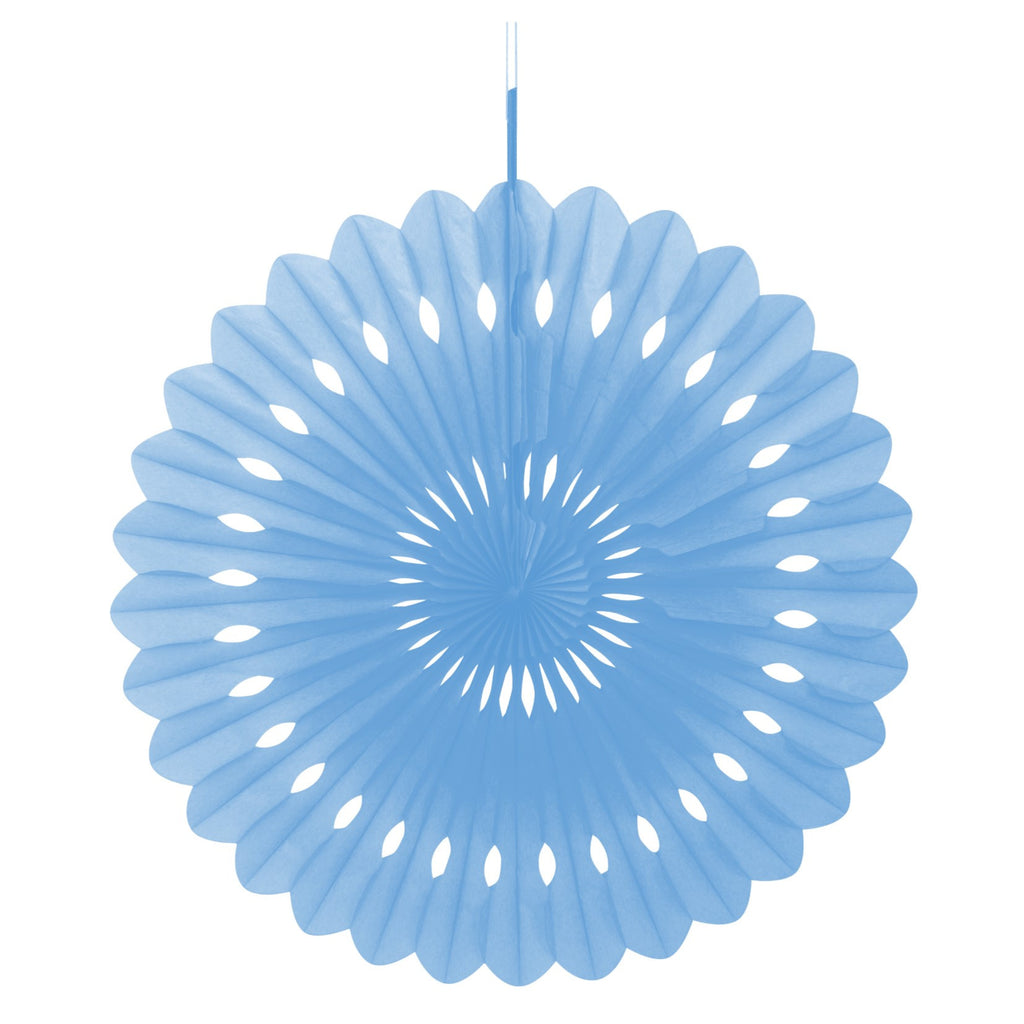 Blue Decorative Fan,[product type] - Baby Showers and More
