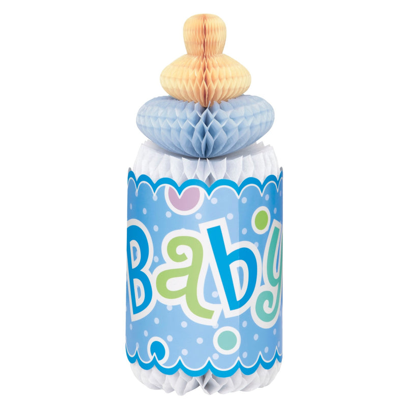 Blue Baby Honeycomb Bottle Decoration,[product type] - Baby Showers and More