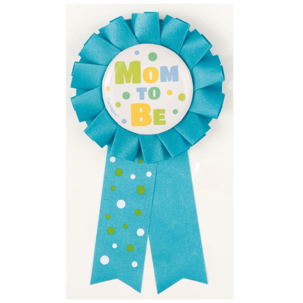 Blue Dotty Baby Rosette Ribbon CLEARANCE