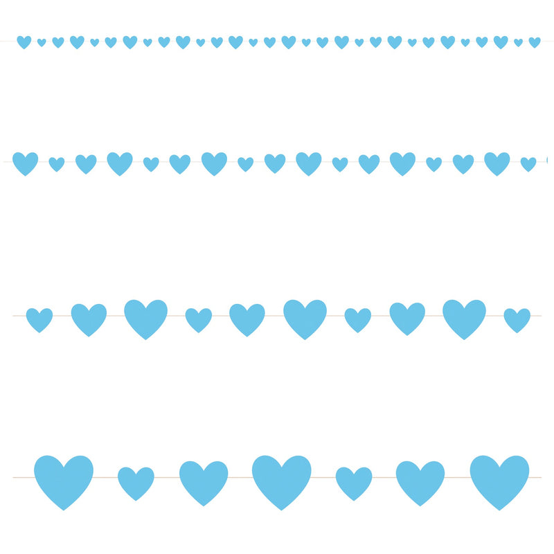 Blue Hearts Garland - Uk Baby Shower Co ltd