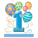 Blue Balloons 1st Birthday Party Bags - Uk Baby Shower Co ltd