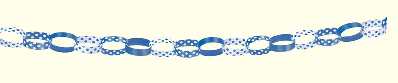 Blue Polka Dot Paper Chains - CLEARANCE - Uk Baby Shower Co ltd