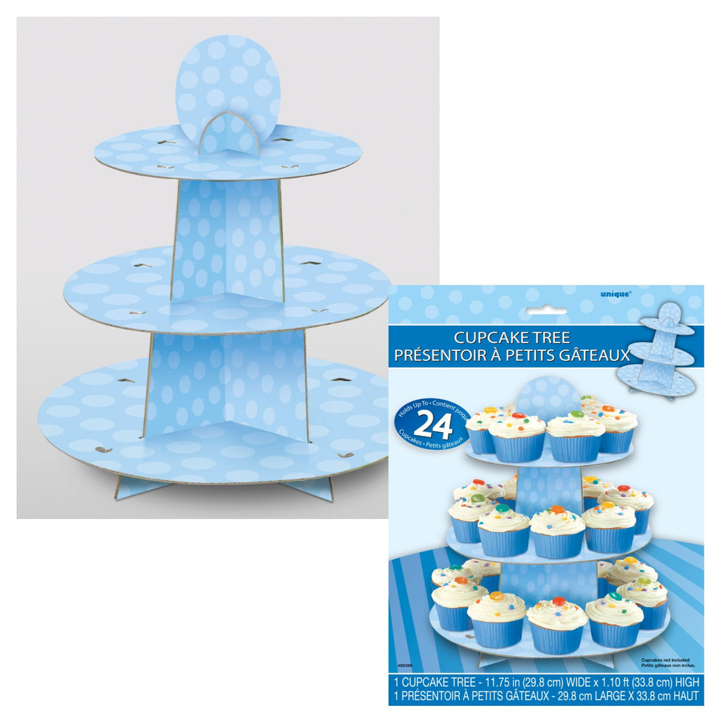 Blue Spotty Cupcake Stand