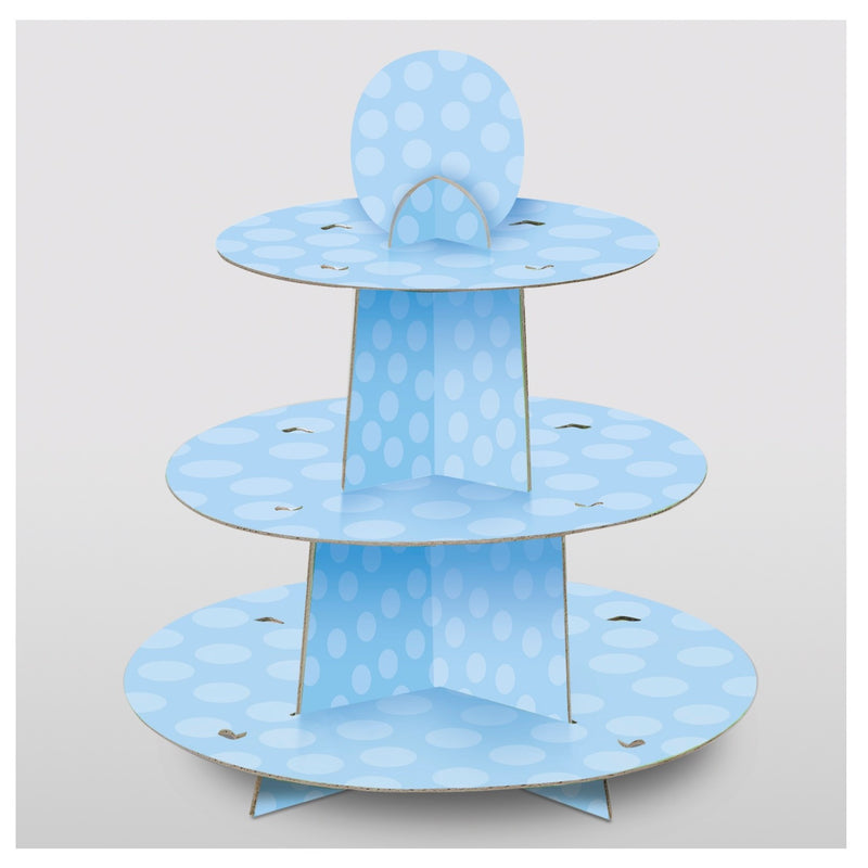 Blue Spotty Cupcake Stand - Uk Baby Shower Co ltd