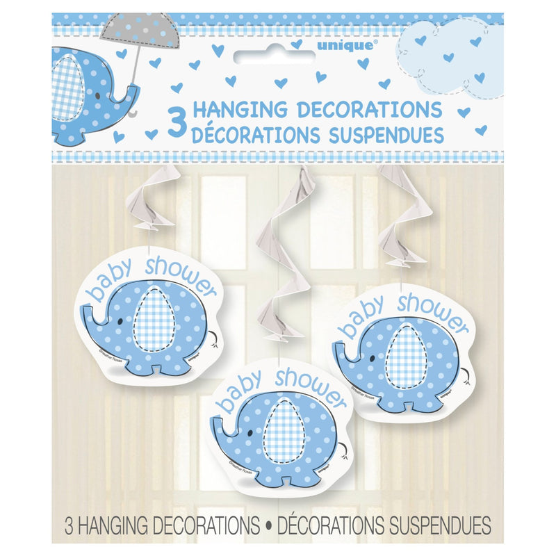 Blue Umbrellaphant Hanging Decorations,[product type] - Baby Showers and More