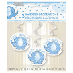 Blue Umbrellaphant Hanging Decorations - Uk Baby Shower Co ltd