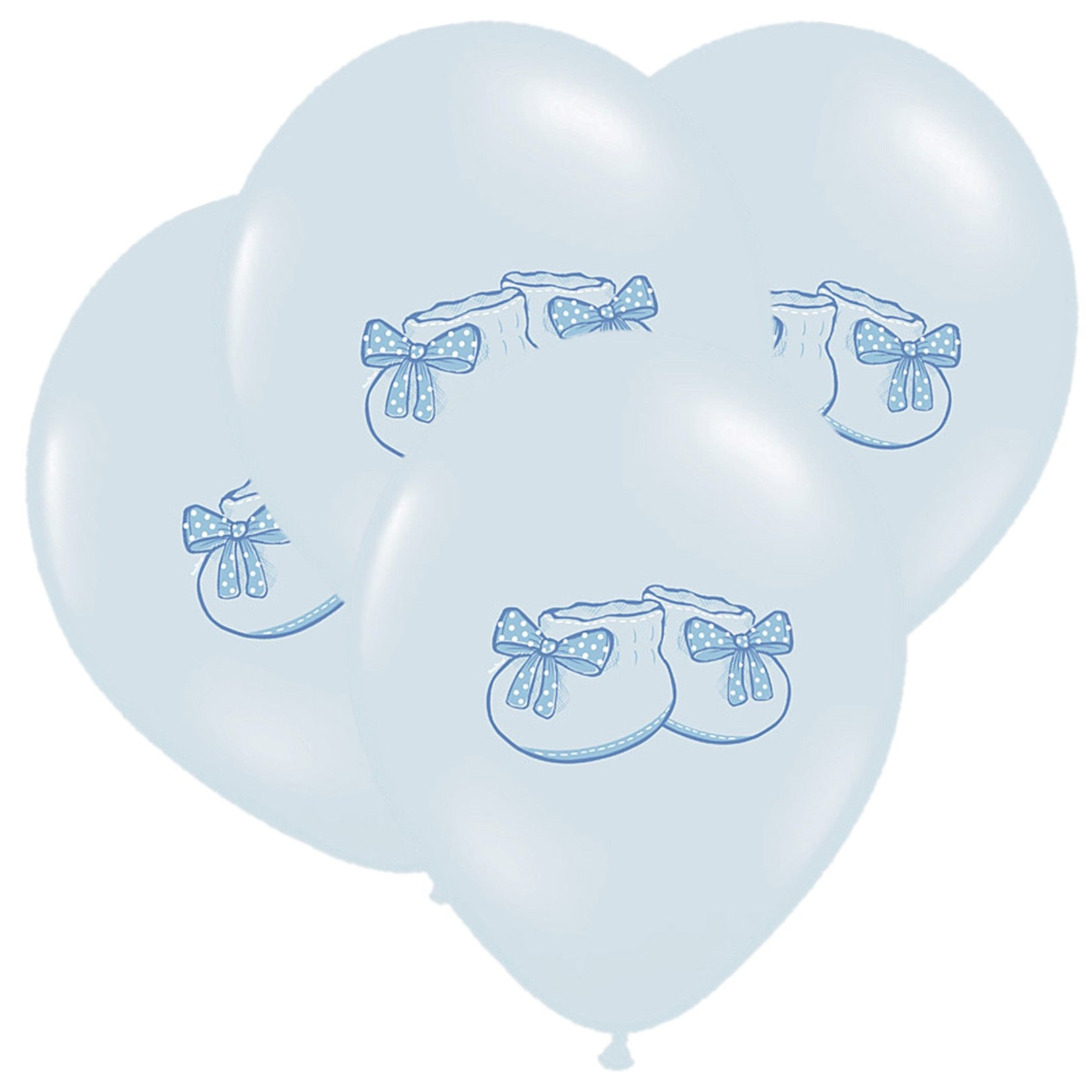 Blue Baby Bootees Balloons - Uk Baby Shower Co ltd