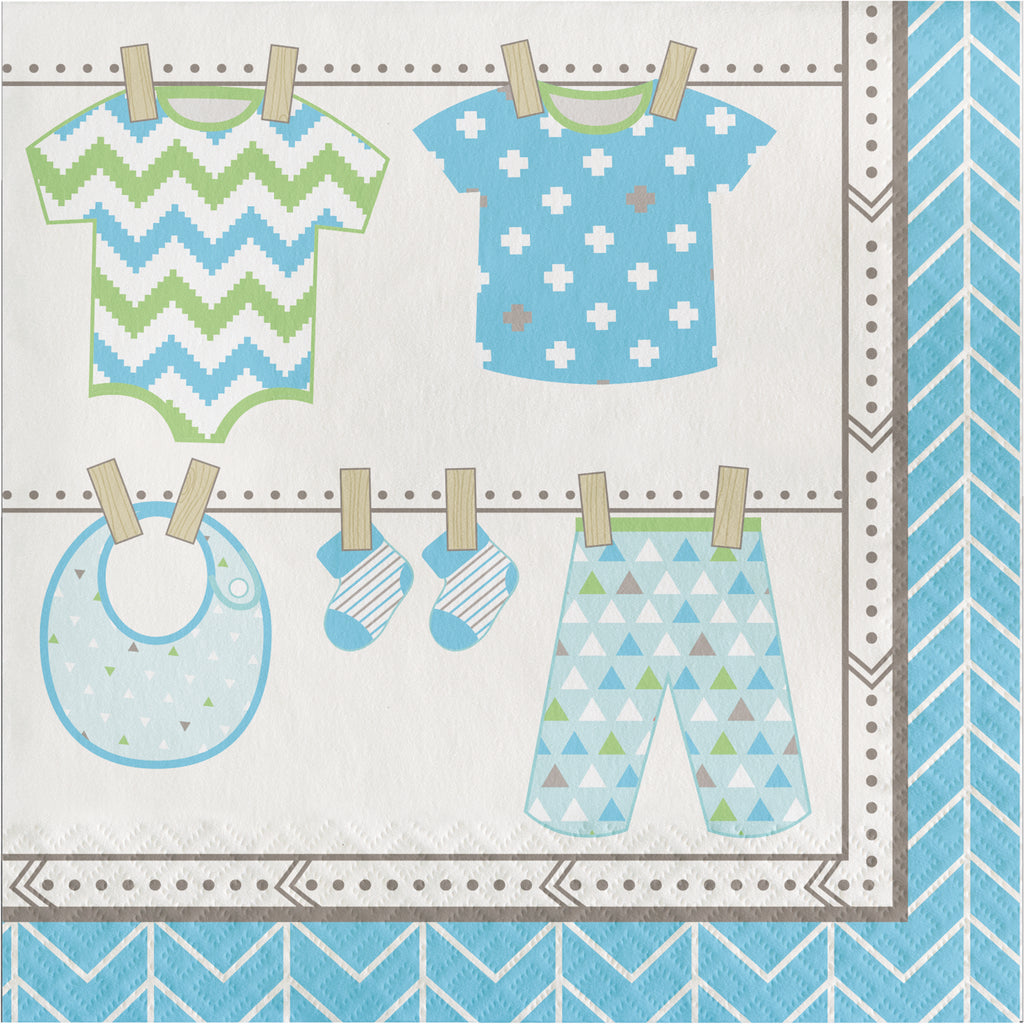Bundle of Joy Napkins Blue