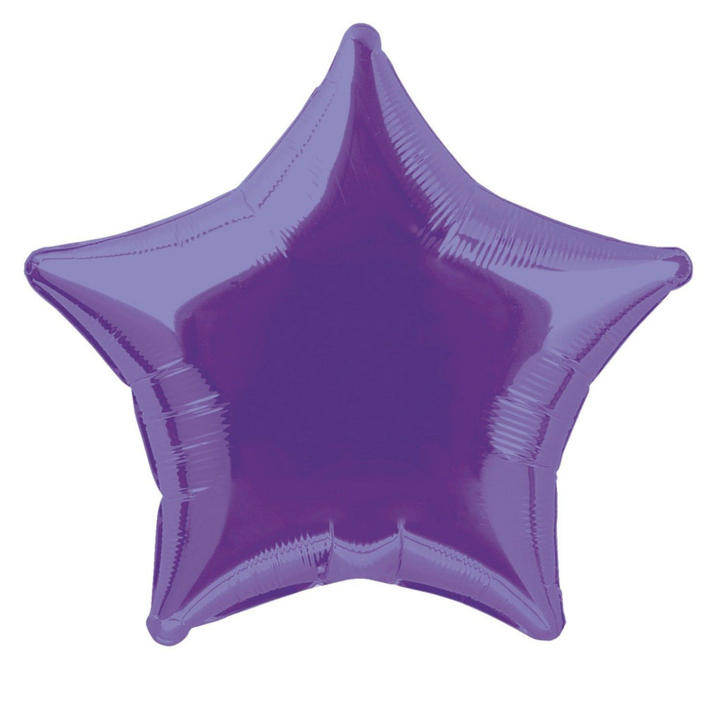 Deep Purple Star Foil Balloon INFLATED