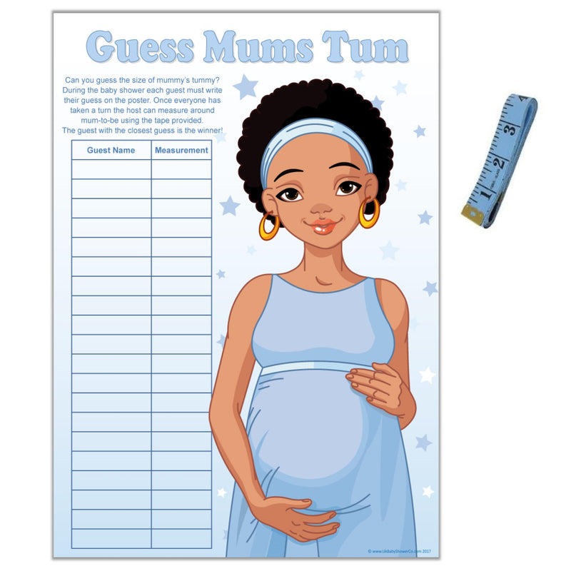 Stars Ethnic Guess Mums Tum Party Game,[product type] - Baby Showers and More