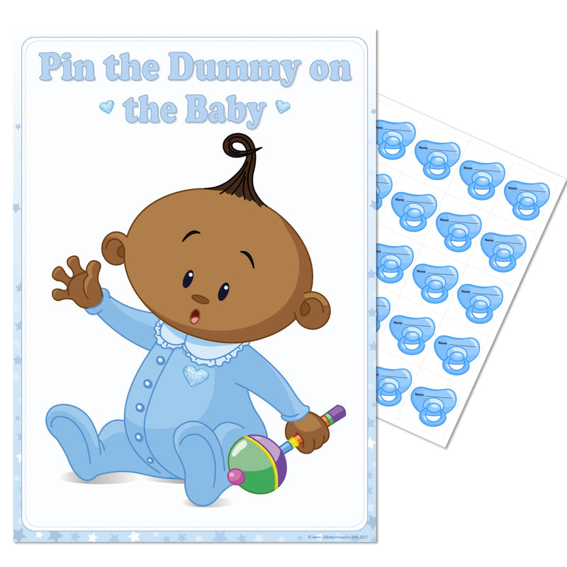 Ethnic Pin the Dummy Game - Where's My Dummy - Uk Baby Shower Co ltd