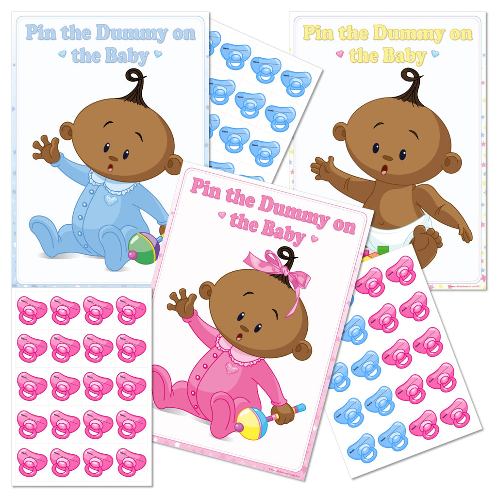 Ethnic Pin the Dummy on the Baby Game