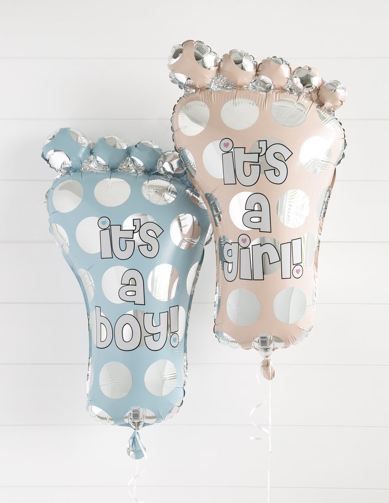 Giant Baby Foot Foil Balloon Pink - Uk Baby Shower Co ltd