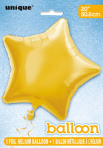 Gold Star Foil Balloon INFLATED