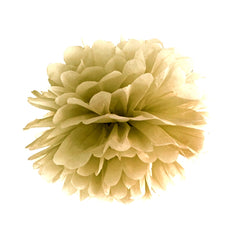 Gold Puff Ball - Medium Size - Uk Baby Shower Co ltd