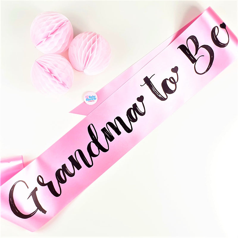 Grandma to Be Sash - Pink - Uk Baby Shower Co ltd