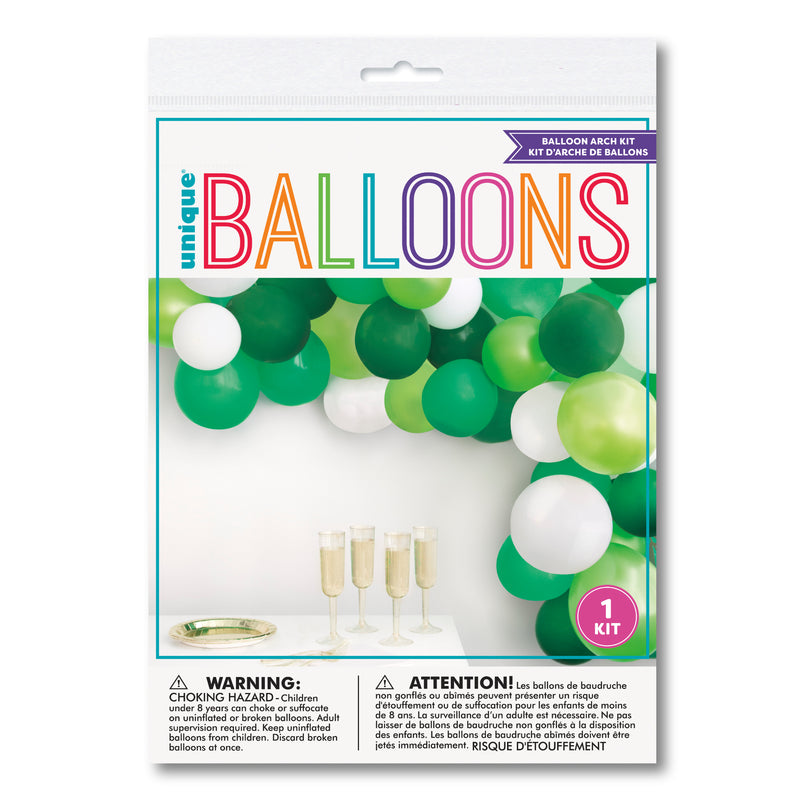 Green and White Balloon Arch Kit DIY
