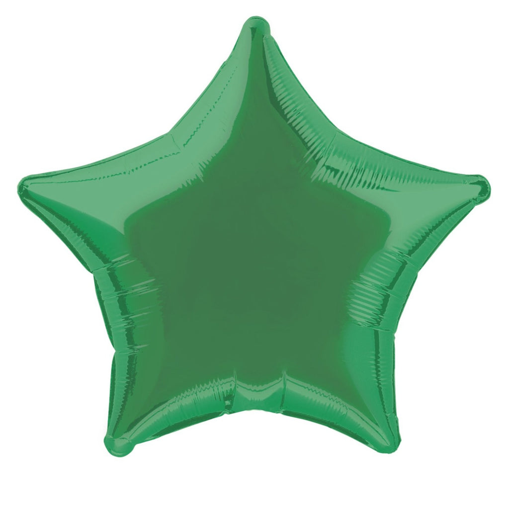 Green Star Foil Balloon INFLATED