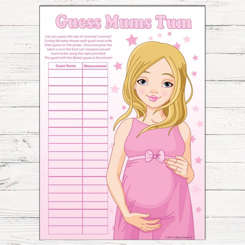 Guess Mums Tum Party Game - Uk Baby Shower Co ltd