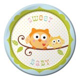 Happi Tree Blue Side Plates CLEARANCE - Uk Baby Shower Co ltd