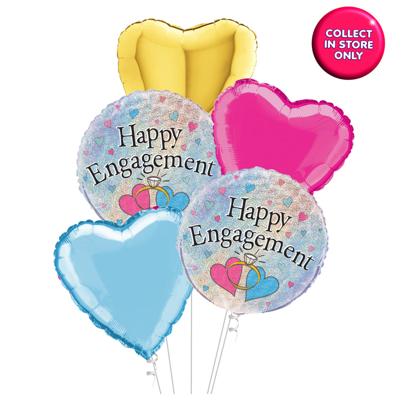 Happy Engagement Balloon - Helium Inflated