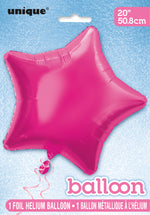 Hot Pink Star Foil Balloon INFLATED