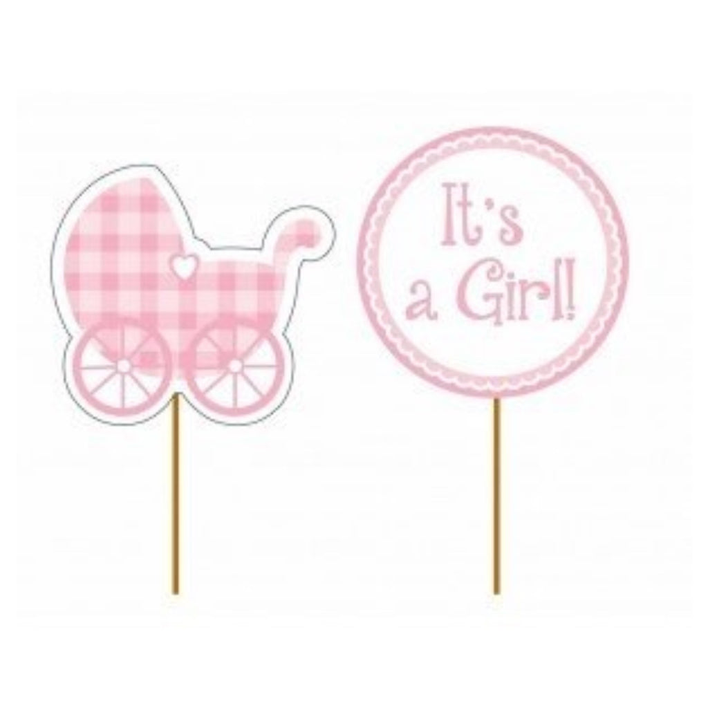 It's a Girl Cupcake Toppers,[product type] - Baby Showers and More