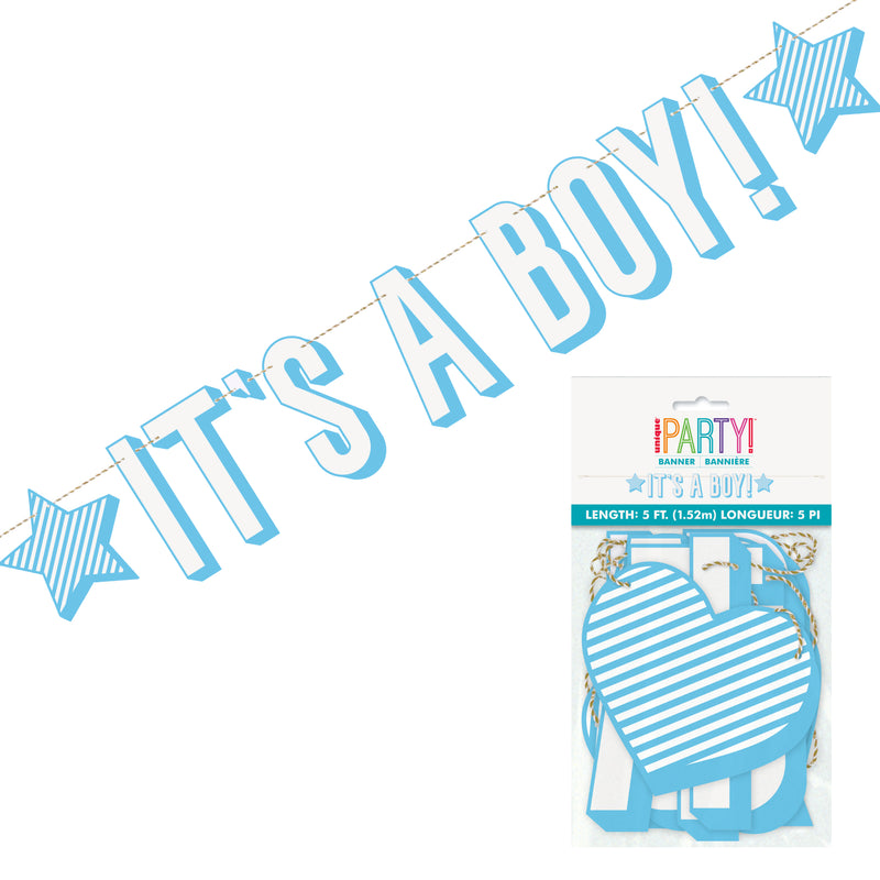 'It's A Boy' Star Letter Banner