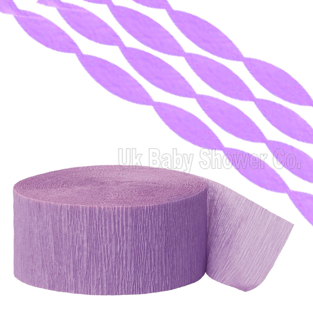 Lavender Crepe Streamer CLEARANCE - Uk Baby Shower Co ltd