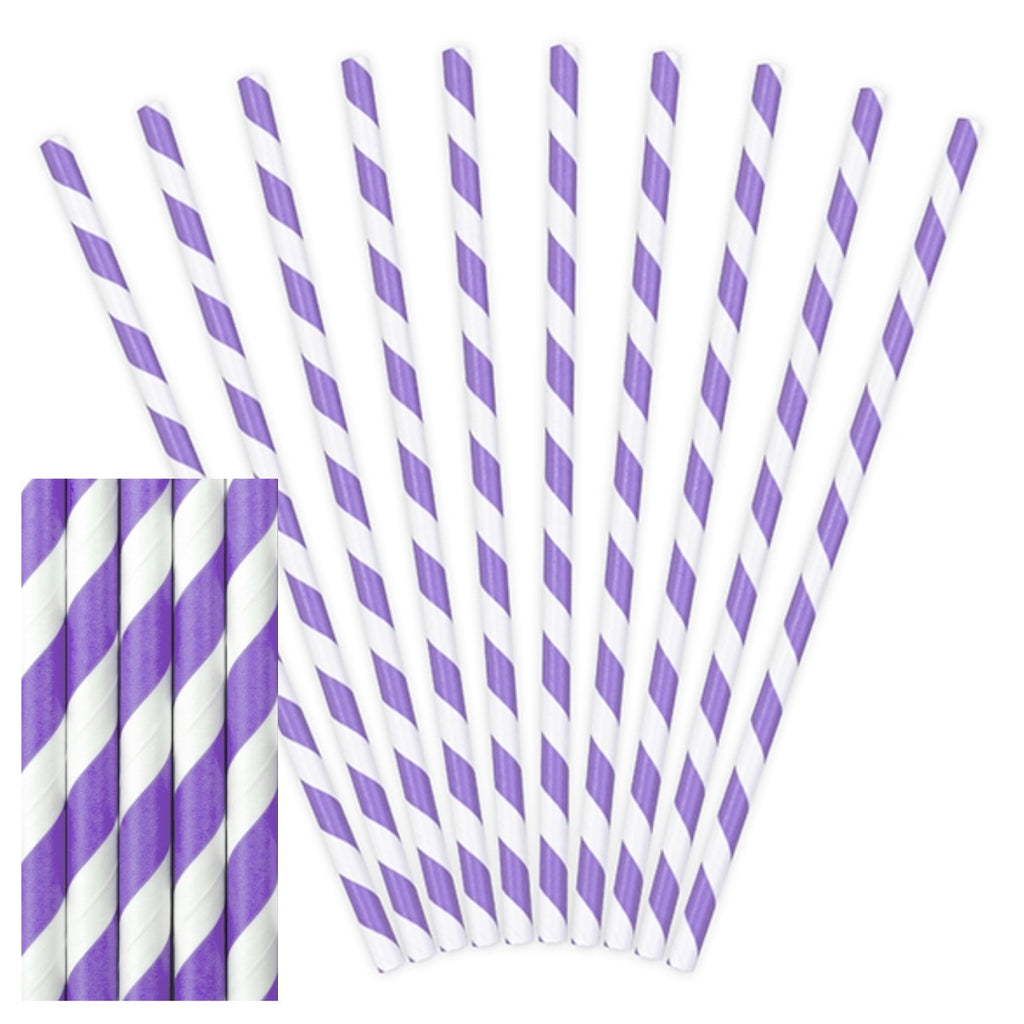 Lilac Paper Straws,[product type] - Baby Showers and More