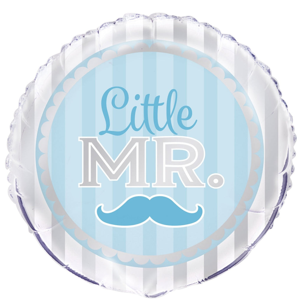 Little MR Baby Shower Helium Foil Balloon INFLATED