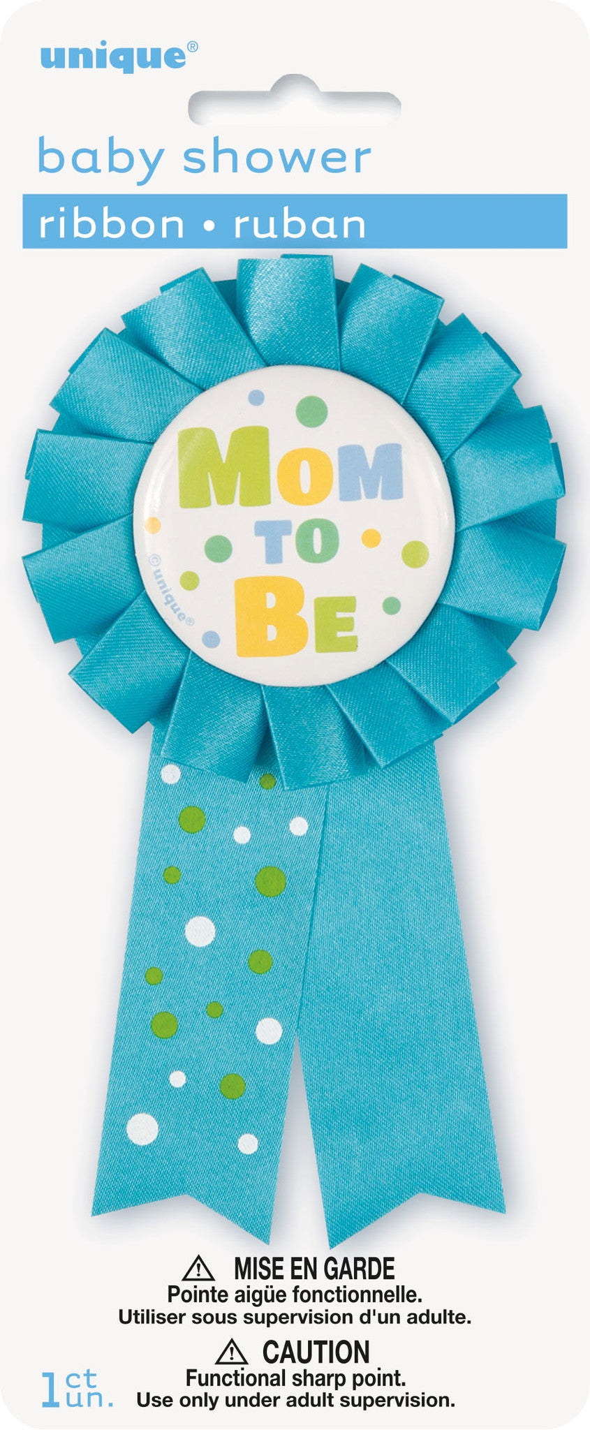 Blue Mummy to Be Rosette Ribbon,[product type] - Baby Showers and More