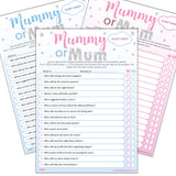 Mummy or Mum Party Game - Uk Baby Shower Co ltd