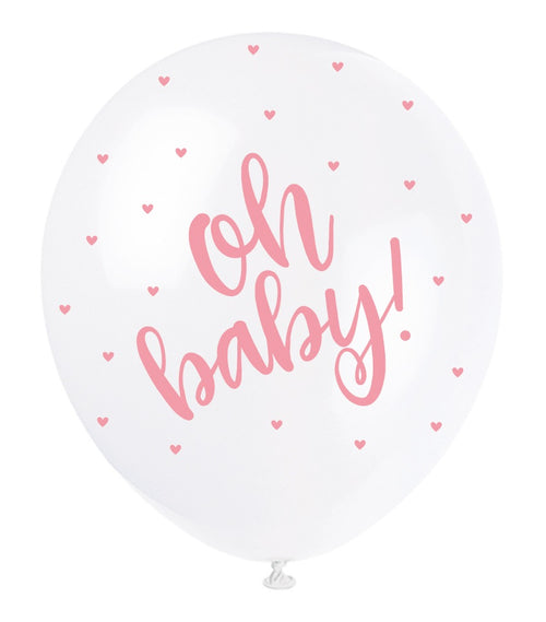 Oh Baby Balloons Pink - Uk Baby Shower Co ltd