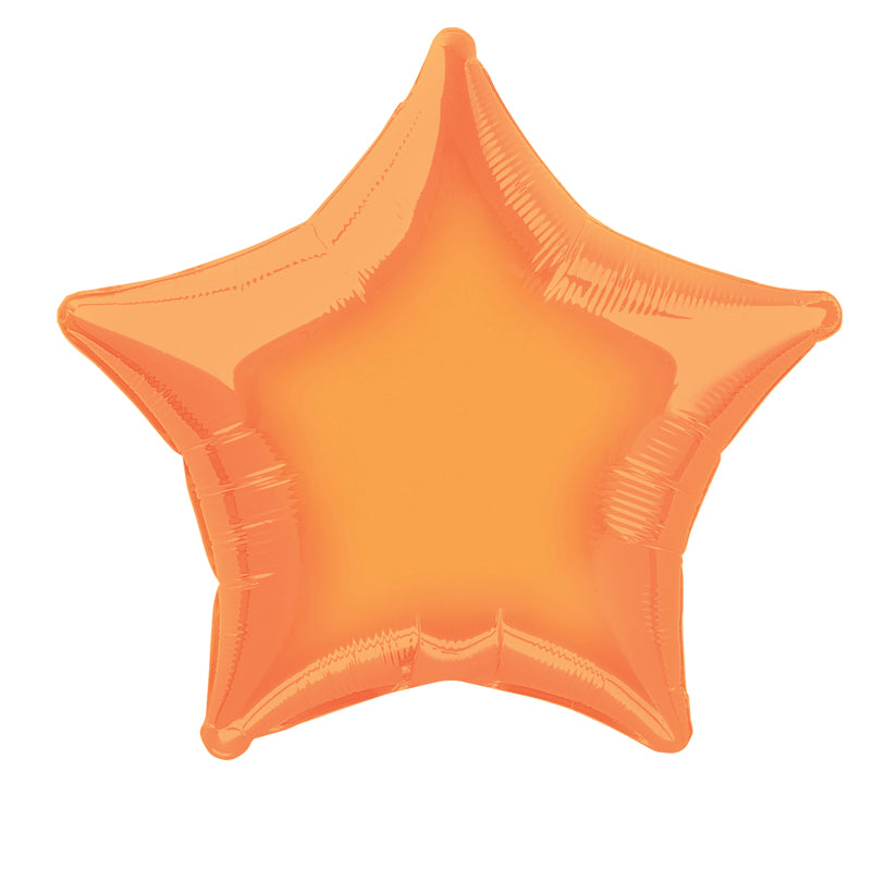 Orange Star Foil Balloon INFLATED