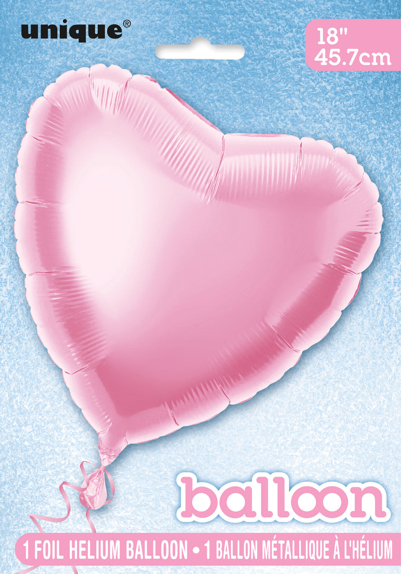 Pastel Pink Heart-Shaped Foil Balloon INFLATED