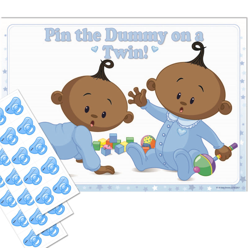 Ethnic Pin the Dummy on a Twin Party Game - Uk Baby Shower Co ltd