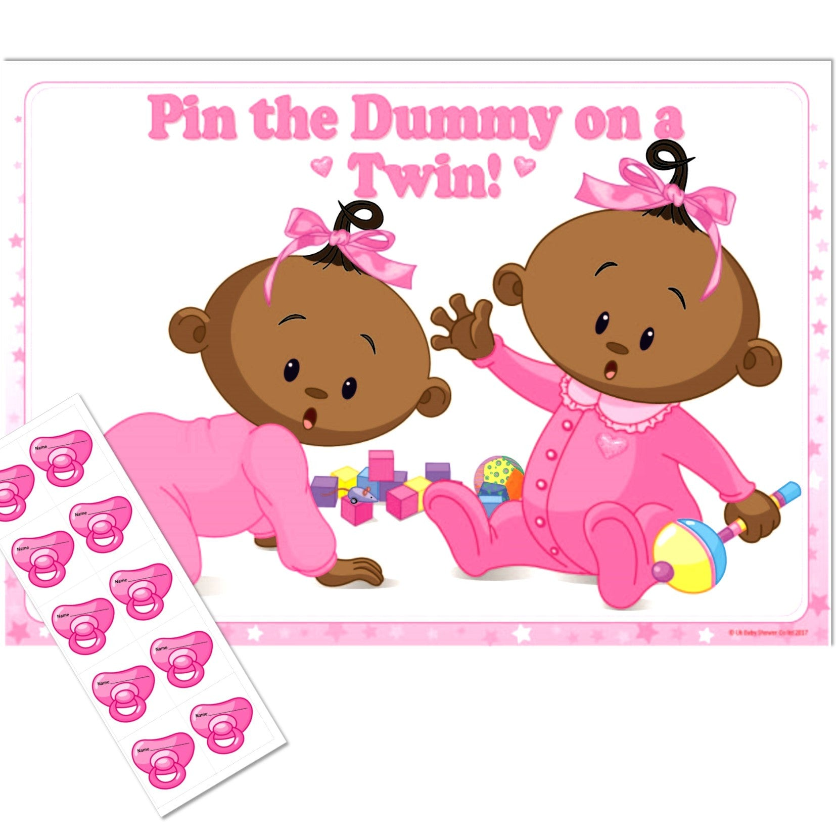 Ethnic Pin the Dummy on a Twin Party Game