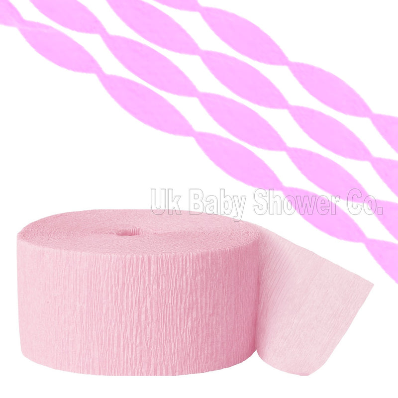Pink Crepe Streamer,[product type] - Baby Showers and More