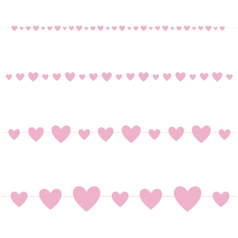 Pink Hearts Garland - Uk Baby Shower Co ltd