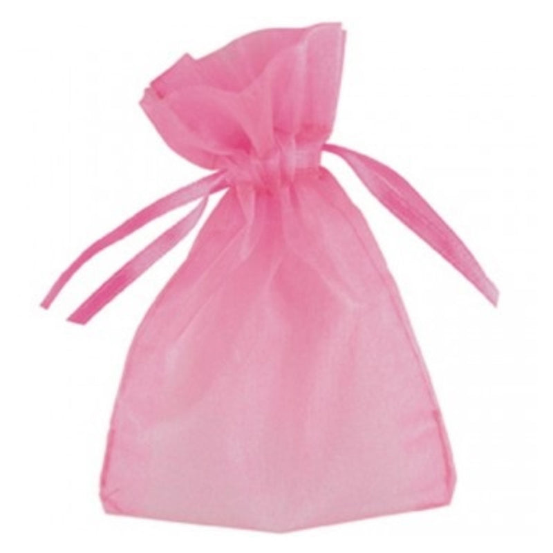 Organza Bags Pink,[product type] - Baby Showers and More