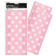 Pink Polka Dot Cello Party Bags - Uk Baby Shower Co ltd