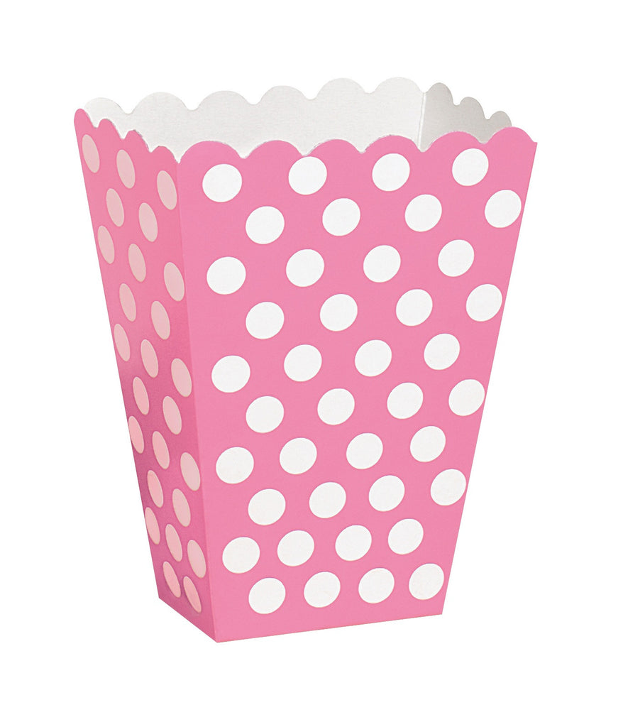 Hot Pink Polka Dot Treat Boxes - CLEARANCE